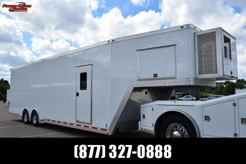 USED 2014 ATC 34' ALL ALUMINUM GOOSENECK ENCLOSED TRAILER