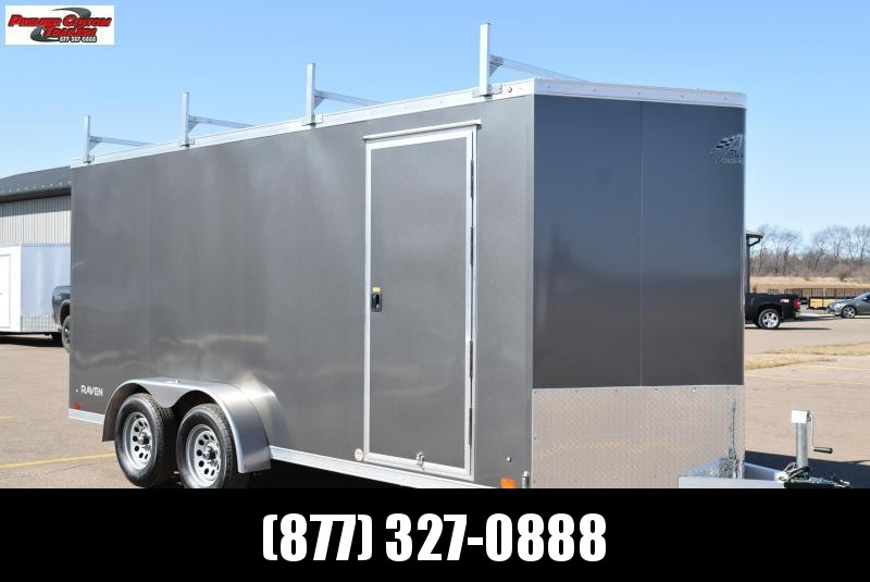 ATC 7x16 RAVEN ENCLOSED CARGO TRAILER W/ LADDER RACKS