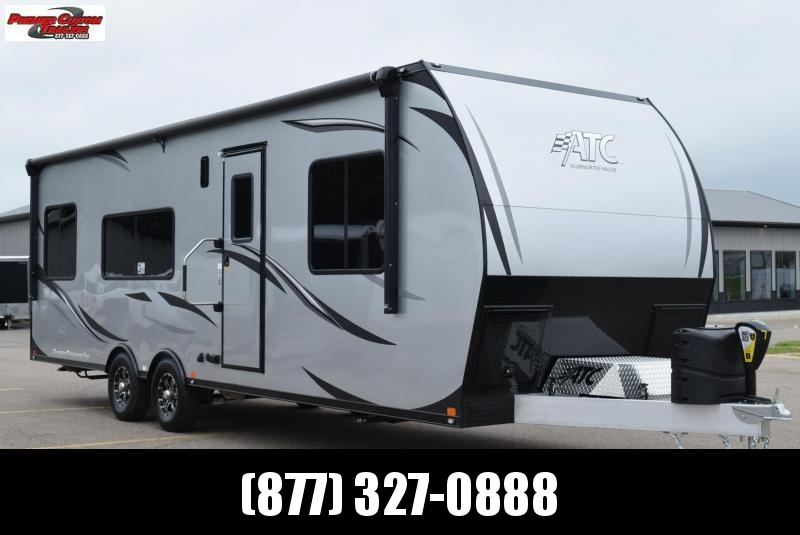 2020 ATC ALL ALUMINUM 8.5x28 TOY HAULER w/ FRONT BEDROOM