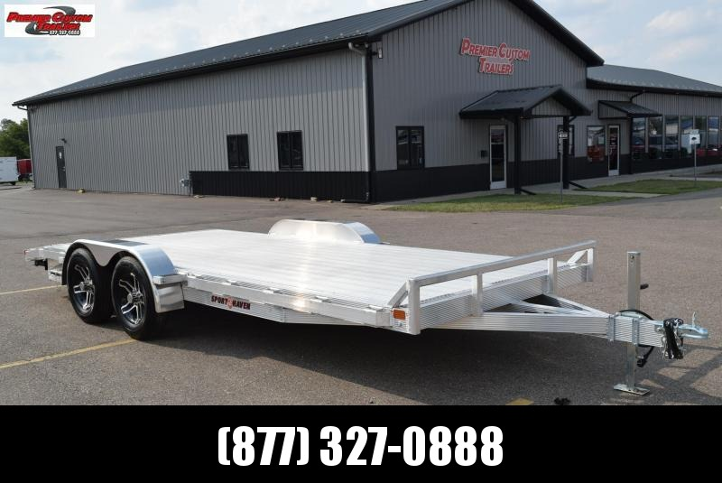 2021 SPORT HAVEN 18' DELUXE ALUMINUM OPEN CAR HAULER