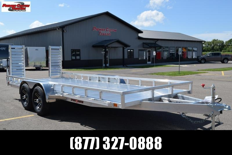 SPORT HAVEN 7x18 HEAVY DUTY UTILITY TRAILER