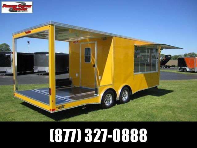 8.5x16 REAR PORCH CONCESSION TRAILER