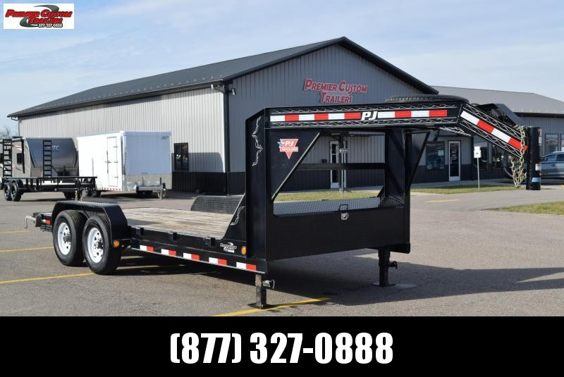 USED 2019 PJ TRAILERS 16' GOOSENECK 14K EQUIPMENT TRAILER