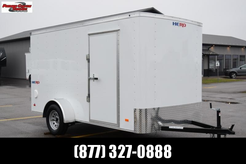 2021 BRAVO HERO 6x12 ENCLOSED CARGO TRAILER W/ REAR DOUBLE DOORS