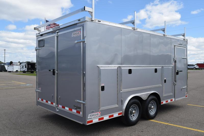 BRAVO STAR 8.5x16 PRO SERIES CONTRACTOR TRAILER w/ DOUBLE DOORS