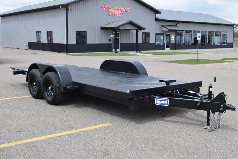 NATION 18' TILT BED OPEN CAR HAULER w/ 5200# AXLES