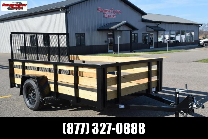 NATION 6x10 UTILITY TRAILER W/ FIXED 3-BOARD SIDES