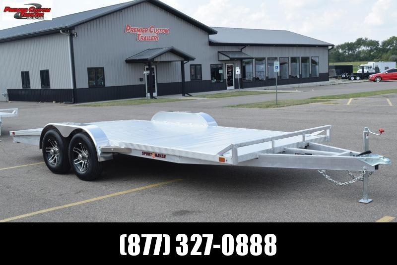 SPORT HAVEN 18' DELUXE ALUMINUM OPEN CAR HAULER