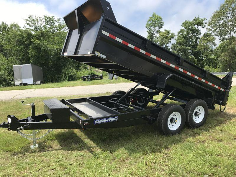2020 Sure-Trac 82x16 14K HD Low Profile Dump (Dual Ram) Dump Trailer