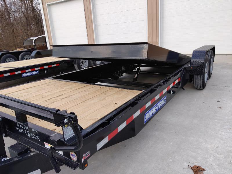 2020 Sure-Trac 82 X 18 + 4 14K Tilt Bed Equipment Equipment Trailer