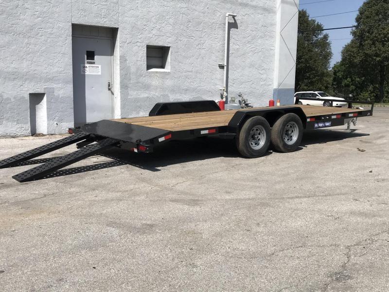 """2021 Sure-Trac 82""""x20' Wood Deck Car Hauler - 10k"""