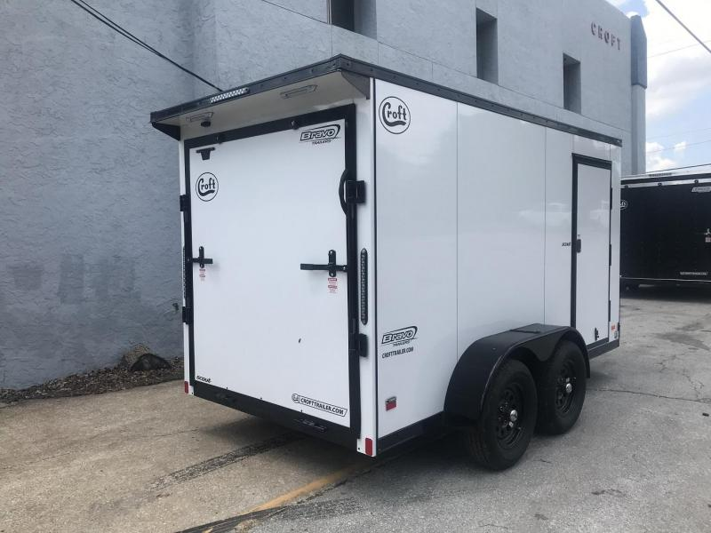 2020 Bravo 6'x12' MN Enclosed w/ Ramp Door - MIDNIGHT EDITION!