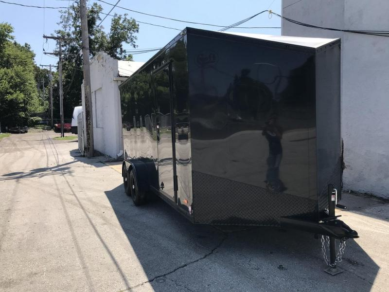 2020 Bravo 7'x16' MN Enclosed w/ Ramp Door - MIDNIGHT EDITION!