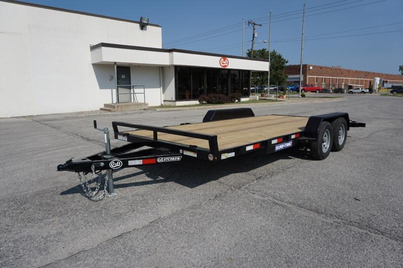 """2021 Sure-Trac 82""""x18' Wood Deck Car Hauler - 7k"""