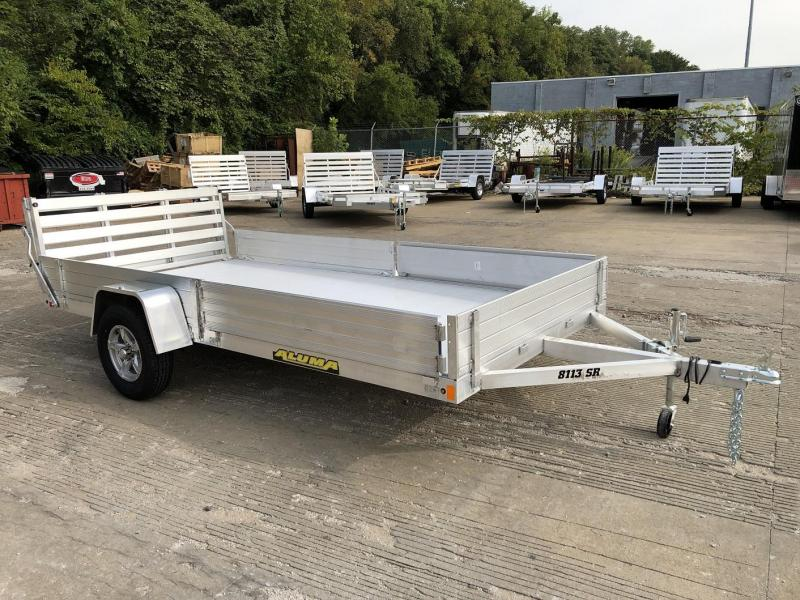 "2021 Aluma 81""x13' Aluminum Utility Trailer - 3.5k"