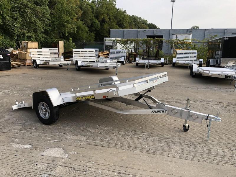 "2021 Aluma 77""x12' Aluminum Tilt Utility Trailer - 3.5k"
