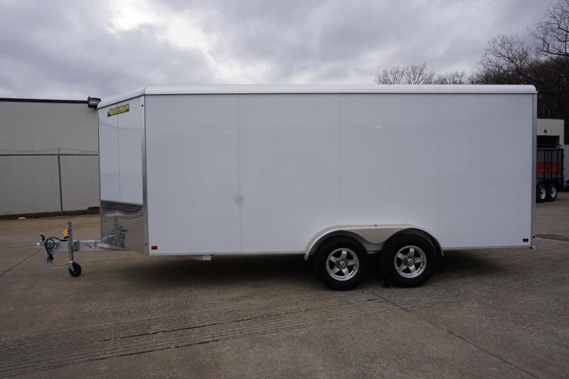 Aluma 7'x16' Tandem Axle Enclosed w/ Ramp Door