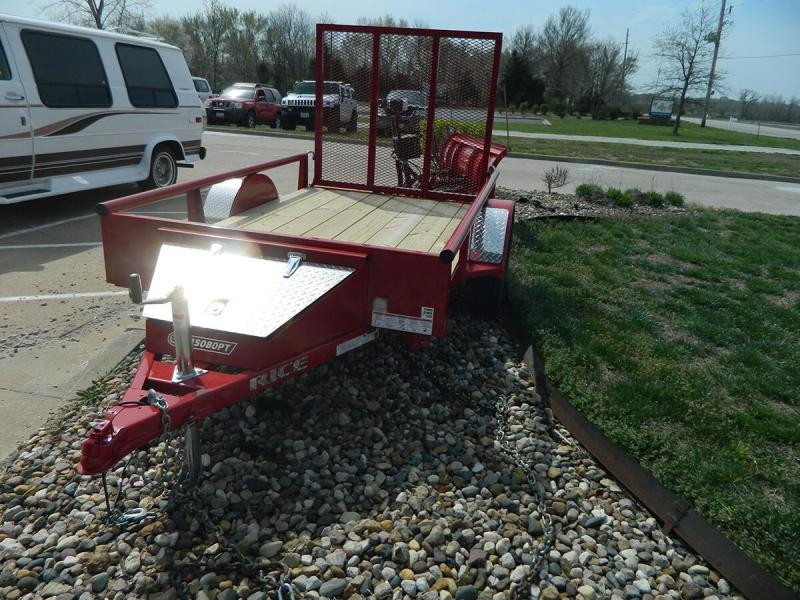 2020 Rice 5'x8' Pipe Top Utility Trailer