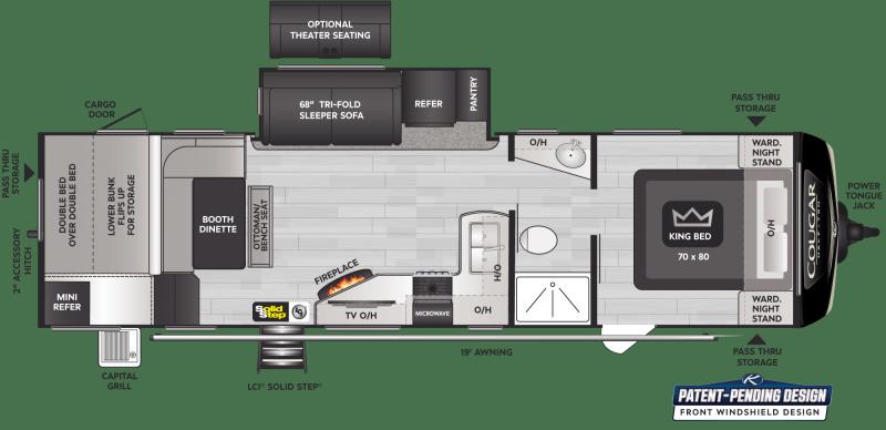 2022 Keystone RV Cougar Half-Ton 30BHS Travel Trailer RV