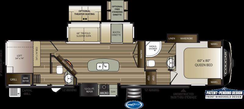 2021 Keystone RV Cougar 364BHL Fifth Wheel Campers RV