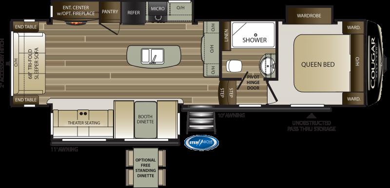 2021 Keystone RV Cougar Half-Ton 30RLS Fifth Wheel Campers RV