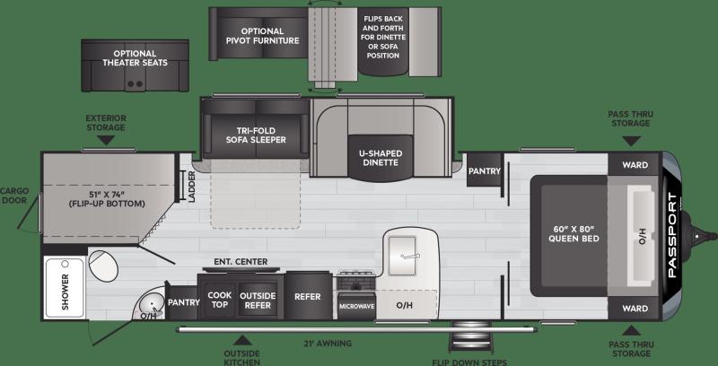 2021 Keystone RV Passport 2951BH Travel Trailer RV