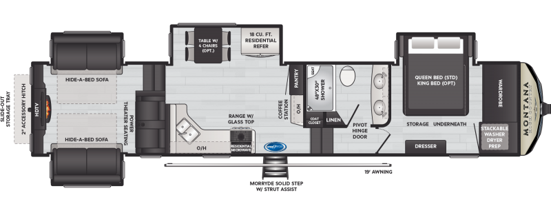 2021 Keystone RV Montana High Country 373RD Fifth Wheel Campers RV