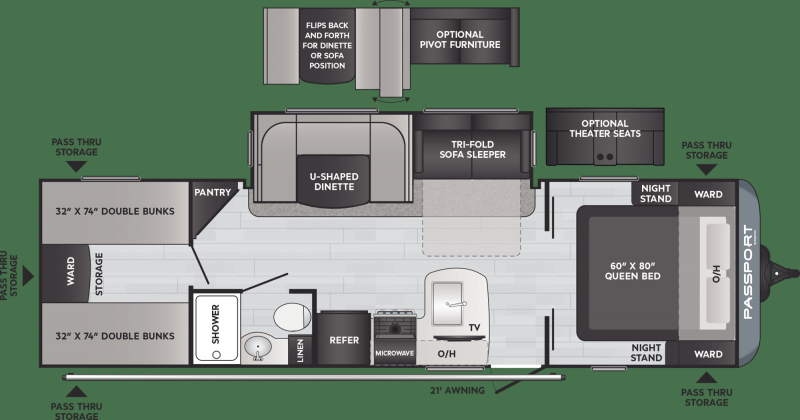 2021 Keystone RV Passport SL 282QB Travel Trailer RV