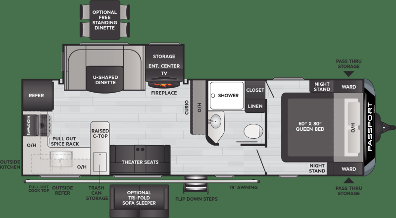 2021 Keystone RV Passport 2704RK Travel Trailer RV