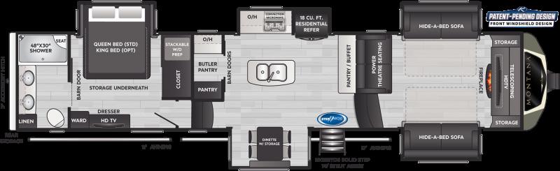 2021 Keystone RV Montana 3763BP Fifth Wheel Campers RV