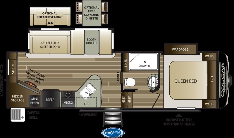 2022 Keystone RV Cougar Half-Ton 25RES Fifth Wheel Campers RV