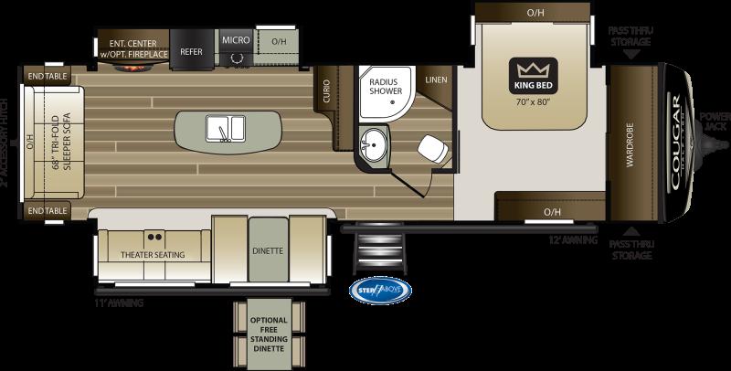 2022 Keystone RV Cougar Half-Ton 32RLI Travel Trailer RV