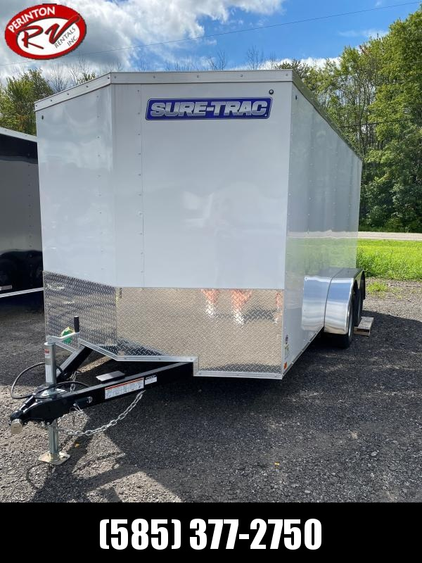 2020 Sure-Trac 7 x 14 Enclosed Wedge  Tandem Axle  7K