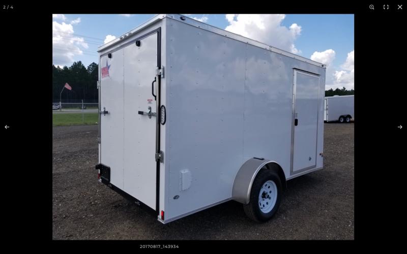 2021 Rock Solid Cargo 6x12 Enclosed Cargo Trailer