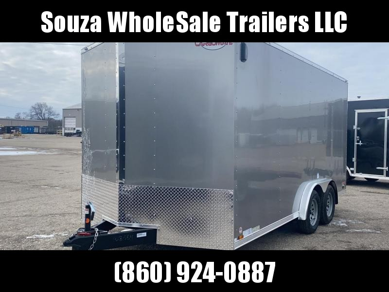 "2021 Cargo Mate 8X16 W/6"" EXTRA HIGHT W/REAR RAMP DOOR Enclosed Cargo Trailer"