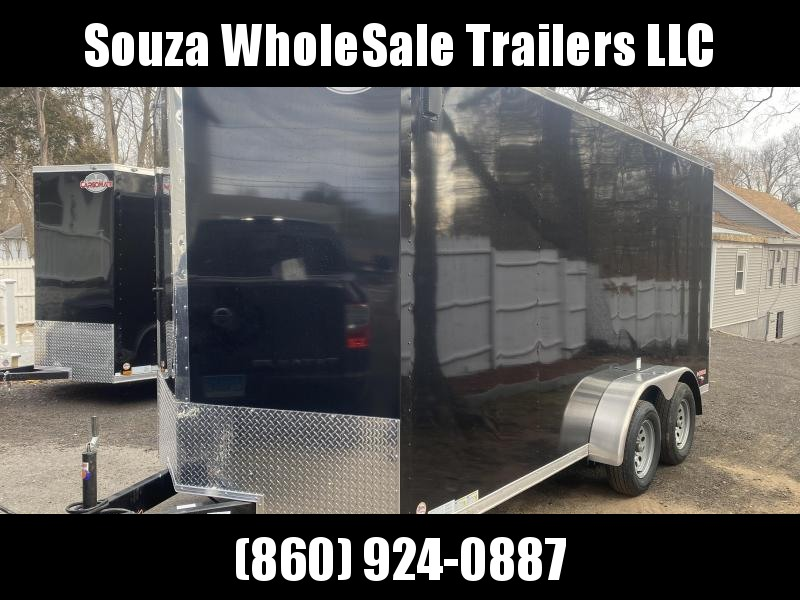 "2021 Cargo Mate 7X16 W/12 INCH EXTRA HIGHT W/RAMP DOOR 78""HIGHT Enclosed Cargo Trailer"
