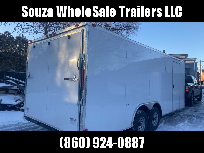2021 Deep South 8.5x20 w/5200lbs each axle w/rear ramp DSC8520TA3 Enclosed Cargo Trailer