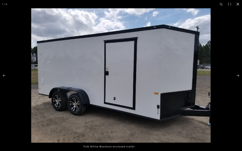 2021 Rock Solid Cargo 7 x 16 TA WHITE HAWK EDITION W/RAMP DOOR Enclosed Cargo Trailer