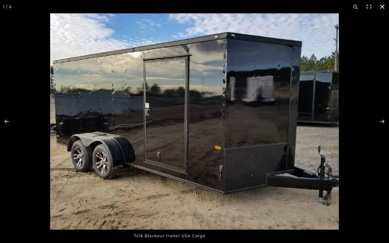 2021 ROCK SOLID CARGO 7 X 16 BLACKHAWK EDITION