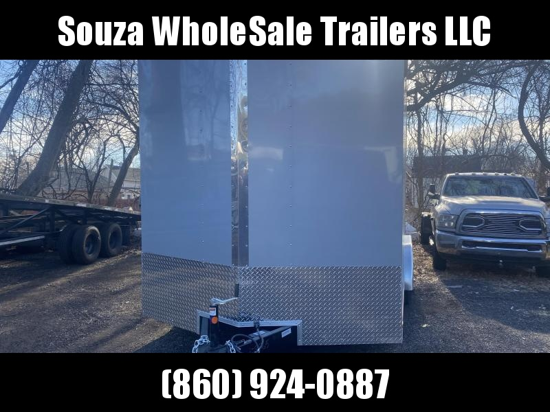 "2021 Cargo Mate 8X16 W/RAMP DOOR 84"" REAR DOOR OPEN Enclosed Cargo Trailer"