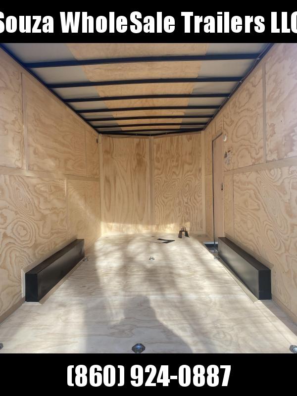 """2021 Cargo Mate 8X16 W/RAMP DOOR 84"""" REAR DOOR OPEN Enclosed Cargo Trailer"""