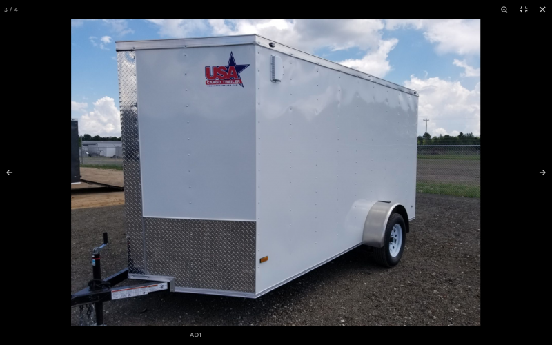 2021 Rock Solid Cargo 6x12 Enclosed Cargo Trailer