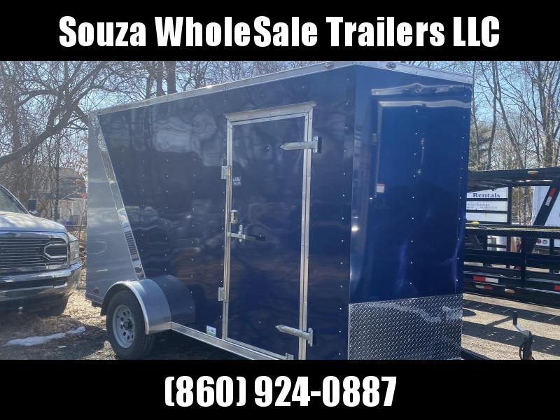 "2021 Cargo Mate SSV612SA. 6x12 w/ 12"" EXTRA HIGHT W/2 TONE SLANT W/REAR RAMP DOOR. Enclosed Cargo Trailer"