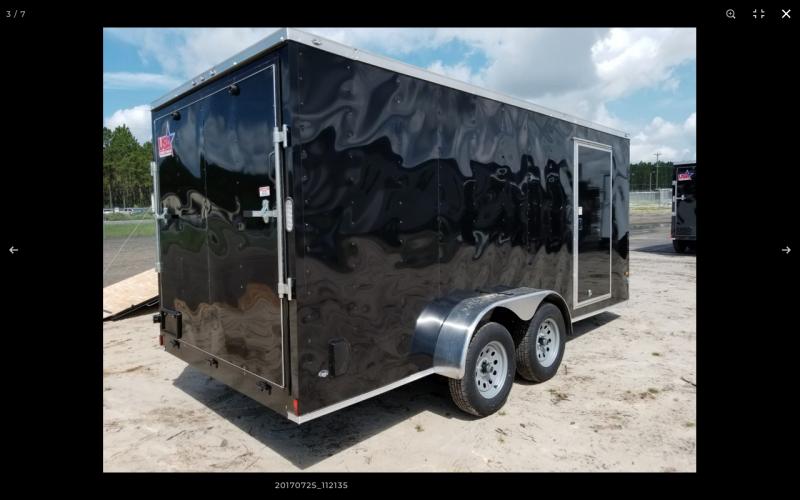 2021 Rock Solid Cargo 7 x 14 TA W/RAMP DOOR Enclosed Cargo Trailer