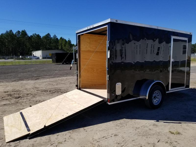 2021 Rock Solid Cargo 6 x 12 SA W/RAMP DOOR BLACK Enclosed Cargo Trailer