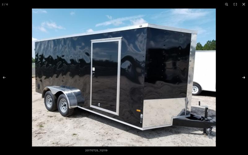 2021 Rock Solid Cargo 7X16TA W/RAMP DOOR LANDSCAPE TRAILERS Enclosed Cargo Trailer