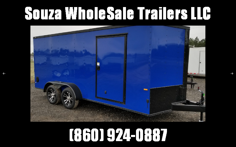 2021 Rock Solid Cargo 7 x 16 TA BLACKHAWK EDITION (ELECTRIC BLUE Enclosed Cargo Trailer