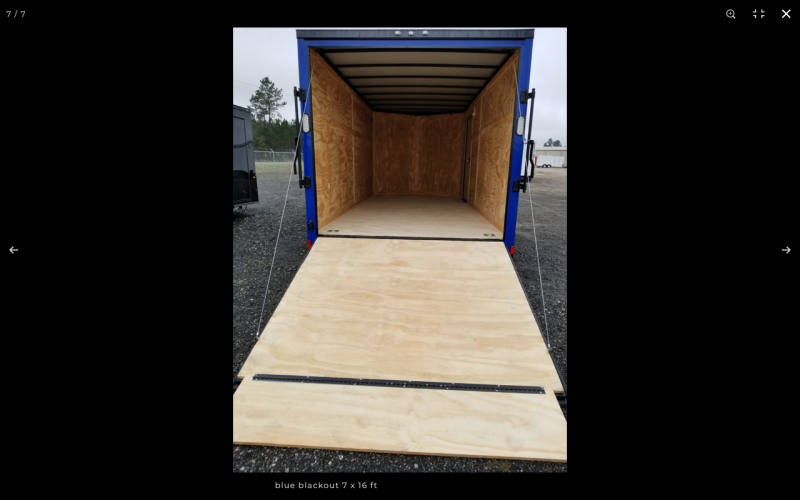 2021 Rock Solid Cargo 7 x 16 TA BLACKHAWK EDITION (ELECTRIC BLUE Enclosed Cargo Trailer