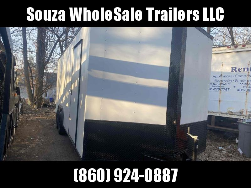 "2021 J&C Trailers 8.5X20TA3 W/6"" EXTRA HIGHT W/REAR RAMP DOOR Enclosed Cargo Trailer"