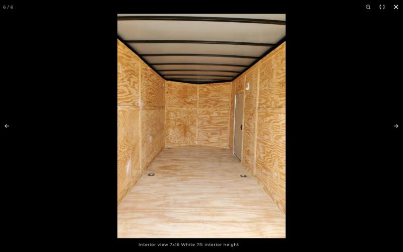 2021 Rock Solid Cargo 7 x 16 TA Enclosed Cargo Trailer